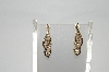 **MBA #79-001  14k Yellow Gold One Of A Kind Channel Set Diamond Earrings