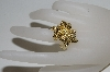 +MBA #80-141   14k Yellow Gold Textured Bypass Alligator Ring