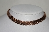 "**MBA #80-0018  Vintage Copper ""Renoir"" Leaf Necklace"