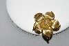 **MBA #80-0083  14k Yellow Gold Diamond Flower Pin/Pendant