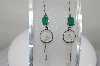 +MBA #80--113  Sterling Clear Quartz  Crystals & Emerald Earrings