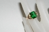 **MBA #80-093  14k Black Hills Gold Green Helenite Ring
