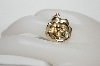 "**MBA #81-266    "" 14K Yellow Gold Satin & Polished Rose Pendant"