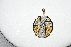 "**MBA #80-045  14K Yellow & White Gold ""Serenity Prayer"" Pendant"