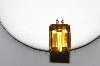 **MBA #81-254     14k Yellow Gold Large Square Cut Citrine Pendant