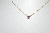 **MBA #81-242  10k Yellow Gold Childs Round Cut Amethyst Necklace