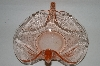 "+MBA #81-272   Vintage Pink Depression Glass ""Double Swan"" Candy Dish"