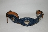 Chambers Blue Leather Double Buckle Belt