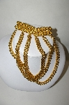Gold Plated 3 Row Chain Belt Clip On