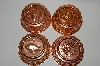 "MBA #81-175  "" Set Of 4 Small Round Unlined Copper Jello Molds"