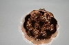 Vintage Floral Motif Copper Jello Mold