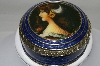 "+MBA #82-012  ""2003 Antique Road Show Reproduction Brass Enameled Trinket Box"