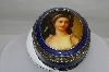 **Oval Antique Road Show Victorian Reproduction Enameled Trinket Box