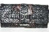 "**MBA #82-060   ""Charlie Lapson Charcoal ""Vercelli"" Wallet"