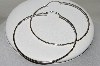 **MBA #84-175   Pair Of Large Sterling Hoops