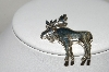 "**MBA #84-167  Sterling ""Moose"" Pin"