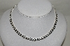 "**MBA #84-091   Sterling 16"" Heavy Curb Link Necklace"