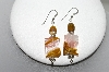 +MBA #84-088  Sterling Fancy Agate & Tiger Eye Pierced Earrings