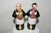 "**Pair Of ""Waiters"" Salt & Pepper Shakers"