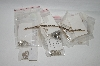 ** MBA #85-191  Large Lot Of Sterling & Gold Plated Linkables, Pendant Settings & Findings