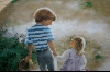 "**Donald  Zolan Childhood Friendship Collection ""Country Walk"" 1989"