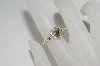 **MBA #85-117     14K Yellow Gold Champagne Heart & White Diamond Ring