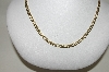 "**MBA #85-197  ""10K White & Yellow Gold  Marina Chain 20"""