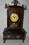 "+MBA #85-080   "" Hand Painted Old Fashioned Wooden  Clock"
