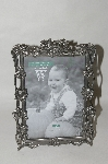 "+MBA #85-001  "" The Western Gallery  Pewter ""Rose Garden Picture Frame 5x7"