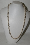 **MBA #87-224   Sterling Native American Bead Necklace