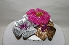 "MBA #89-025  "" Kathleen Kirkwood ""Sequin & Bead"" Floral Sweater Pins"