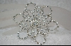 Large Crystal Snow Flake Pin