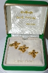 **MBA #89-136  Sol Q'Or Made In Ireland Set Of 3 Angel & Clover Pins