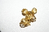 "+MBA #87-369  Avon Gold Tone ""Mouse With Glass's"" Pin"