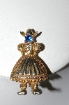 +MBA #87-288   Vintage Gold Plated Dutch Girl Pin