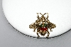 +MBA #87-339  Vintage Gold Plated Rhinestone Bumble Bee Pin