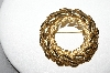 Trifari Goldtone Leaf Wreath Pin