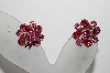 **MBA #90-138   Coro Silvertone Pink Rhinestone Clip On Earrings