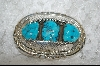 3 Stone Blue Turquoise Belt Buckle