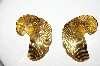 **MBA #88-207   Trifari Gold Tone Clip On Earrings