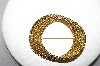 **MBA #88-254  Monet Rope Look Gold Tone Brooch