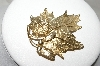 +MBA #88-121   Large Beautiful Lisner Leaf Brooch