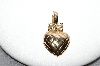 **MBA #88-449   Roman Gold Plated Heart Enhancer