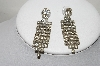 **MBA #89-087   Vintage Clear Crystal Rhinestone Drop Earrings
