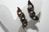 **MBA #88-156   Vintage Silver Tone Clear Crystal Rhinestone Leaf Style Clip On Earrings