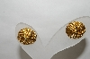 **MBA #88-001   Napier Gold Tone Rope Look Pierced Earrings