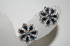Tafari Silver Tone Blue Rhinestone Clip On Earrings