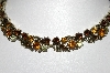 Lisner Gold Tone Multi Colored Rhinestone Necklace