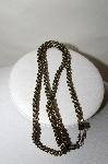 **MBA #88-123  Vintage Gun Metal Grey & Gold Plated Chain Necklace