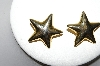 "Signed ""AK"" Gold Plated Star Clip On Earrings"